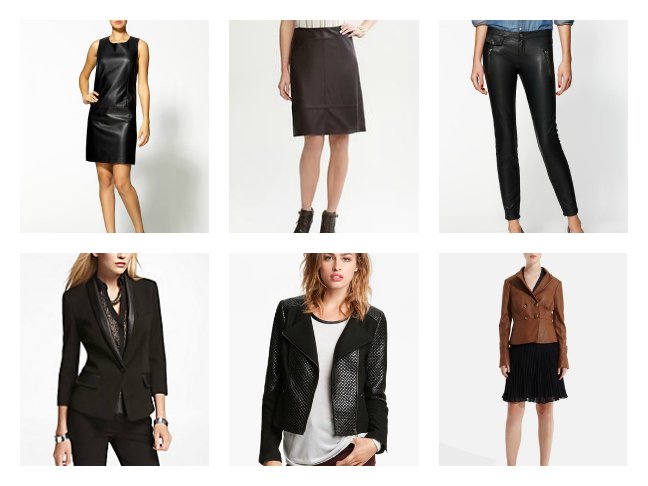 Shopping: Faux Leather Looks