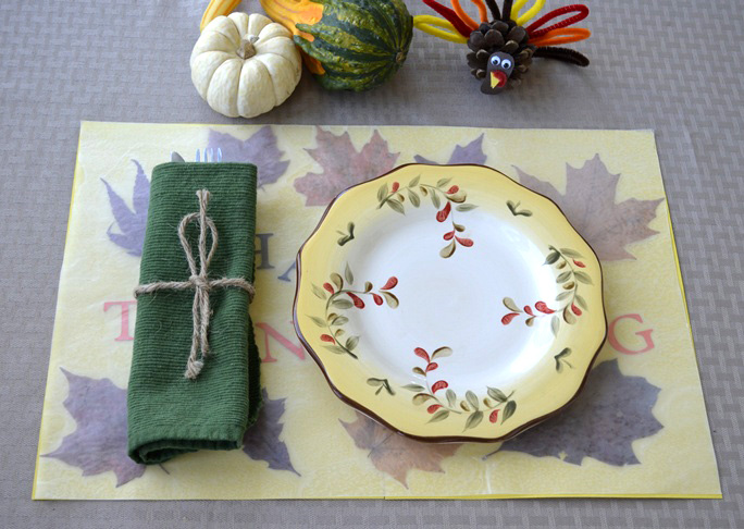 Pressed Leaf Placemat Craft Final