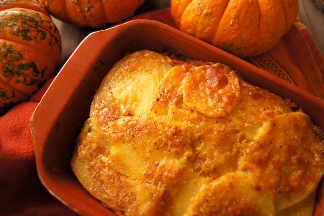 Spiced Pumpkin Potato Gratin Recipe