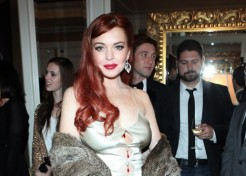 Photos: Lindsay Lohan Attends The Premiere of 'Liz and Dick'