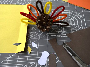 Pinecone Turkey DIY Craft - Step 6