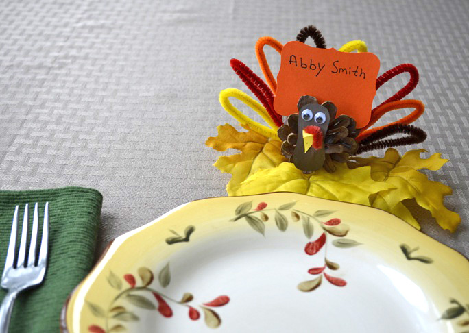 Pinecone Turkey Placecard