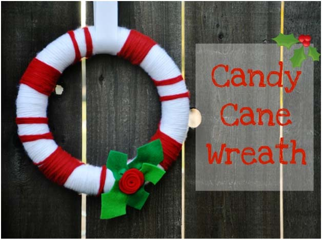 Christmas Yarn Wreath DIY