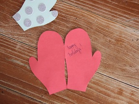 Mitten Holiday Cards - Step 10