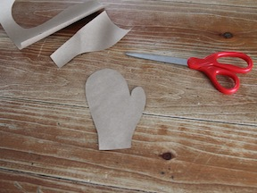 Mitten Cards DIY Craft - Step 2