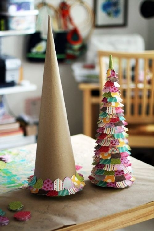 paper christmas trees christmas crafts - Xmas Crafts