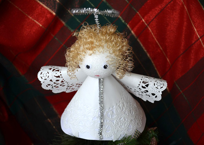 Angel Tree Topper DIY Craft - Christmas Tree Angel Toppers