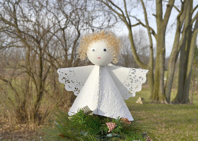 Angel Christmas Tree Topper Craft - Step 13