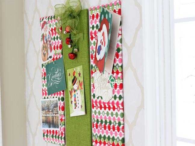 christmas card holder step 6 - Christmas Card Holder Wall Hanging