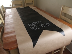 Chalkboard Table Runner DIY - Step 6