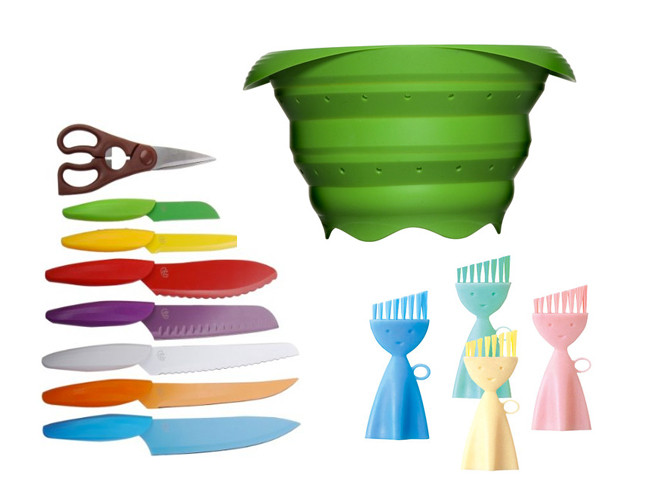 Colorful fun to use kitchen tools for Colorful kitchen tools