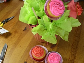 Cupcake Bouquet - last step