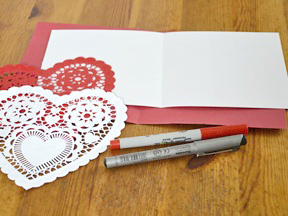 Homemade Heart Pop-Up Card Craft - Materials