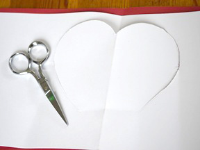 Homemade Heart Pop-Up Card Craft - Step 5
