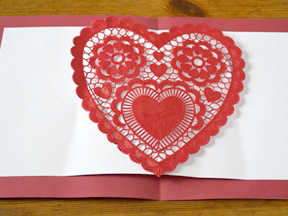 Homemade Heart Pop-Up Card Craft - Step 8