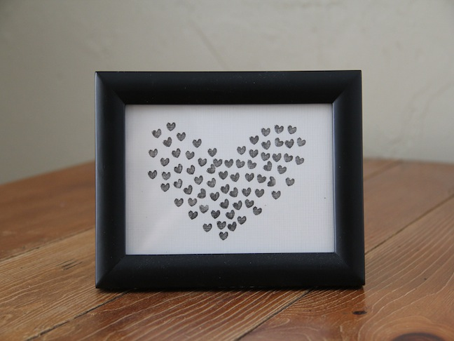 DIY Heart Stamp Art