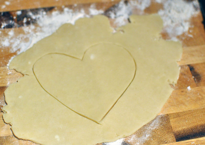 Heart Shaped Chicken Pot Pie
