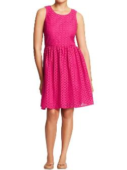 Mixed Eyelet Spring Dress
