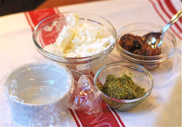 Goat Cheese Terrine Recipe - Step 1