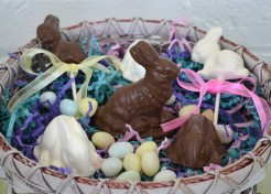 Chocolate and Peanut Butter Cream Easter Bunnies Recipe