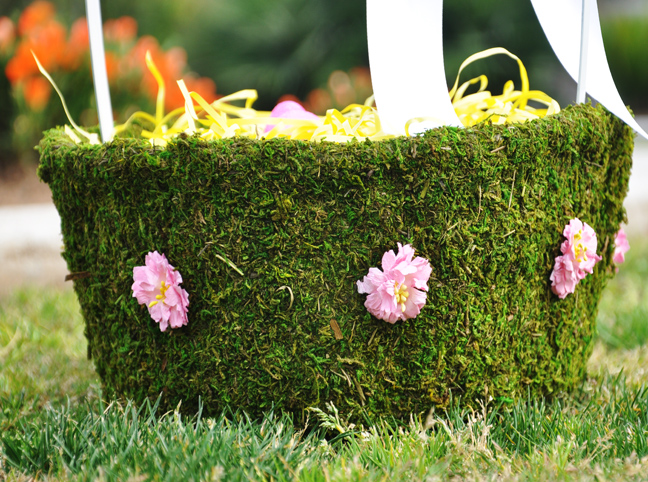 DIY MOSS BASKET