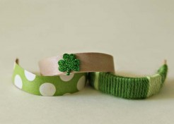 DIY Popsicle Stick Bracelets for St. Paddy's Day