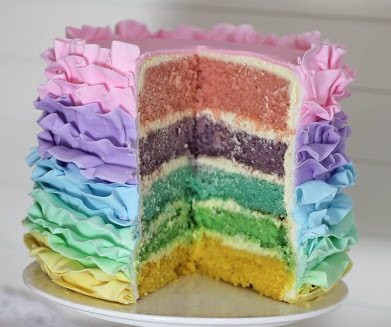 Easter Layer Ruffle Cake