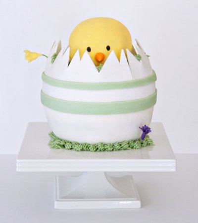 Hatching Chick Easter Mini Cake