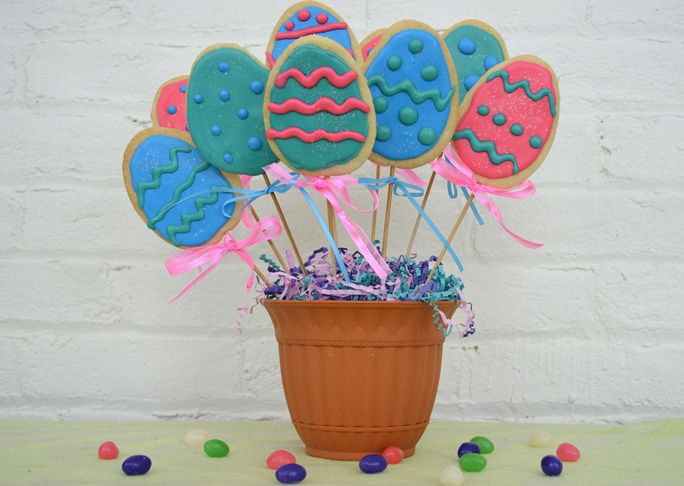 Easter Egg Cookie Bouquet Final