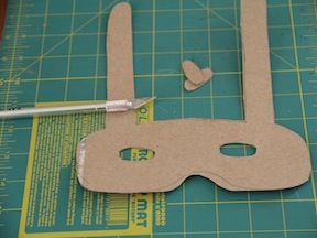 Easter Bunny Mask Craft - Step 2
