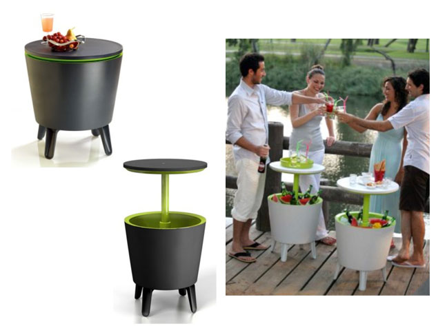 Small Side Tables Are Always Indispensable Items For Patios Or Terraces And This Cool Resin Bar Table Is Not Only Well Priced But It Also Converts