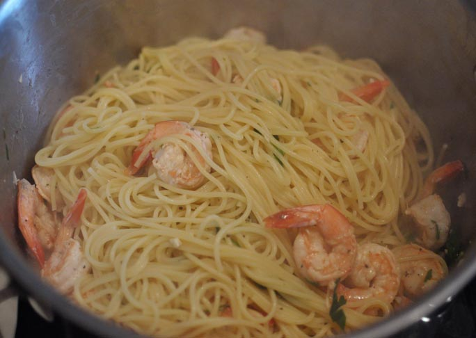 Shrimp Scampi- Step 7