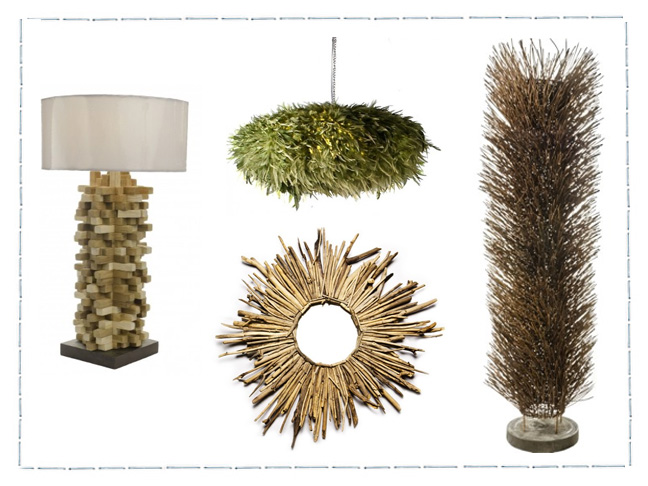 I M A Pushover When It Comes To Home Decor That Takes Objects Found In Nature And Combines Them Into Cool Contemporary Designs With An Ethnic Twist
