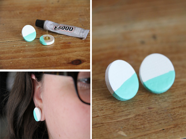 DIY Colorblock Earrings