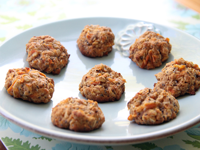 Carrot Porridge Cookies