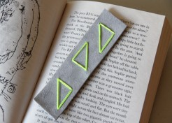 Embroidered Leather Bookmark Craft