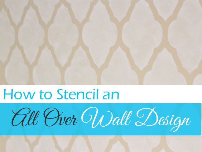 paint a design on your wall using a stencil. Black Bedroom Furniture Sets. Home Design Ideas