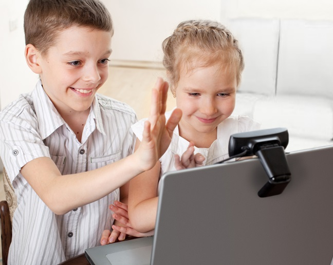 Kids on Skype