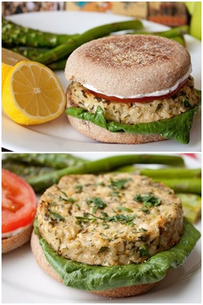 Lemon Garlic Tuna Burger