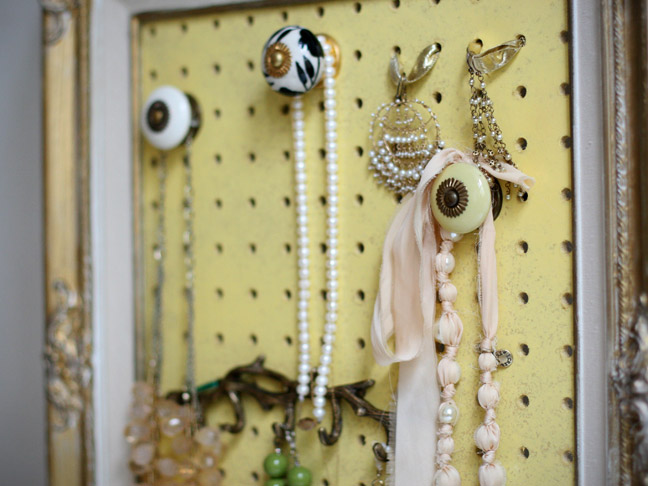DIY: Framed Jewelry Organizer