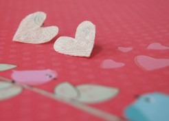 DIY: Fabric Heart Earrings