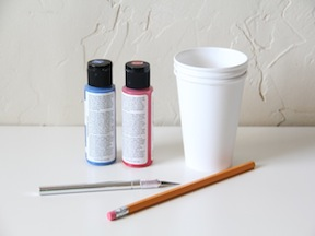 Star Stamped Cups Craft - Materials