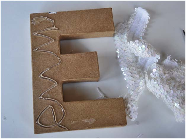 DIY: 5 Minute Sequin Initial