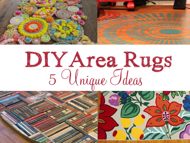 5 unique diy area rug ideas - Rug Design Ideas