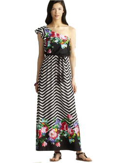 One Shoulder Maxi Summer Dress