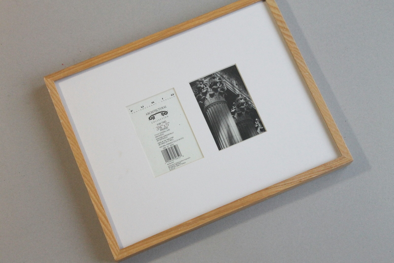 washi tape pitcure frame diy step 1