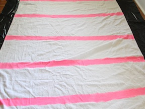DIY Striped Tablecloth - Step 3