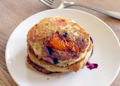 Apricot and Blueberry Pancakes