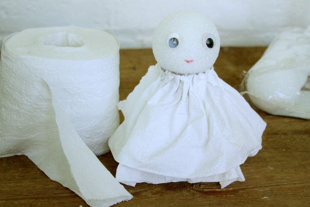DIY Toilet Paper Angel - Step 6