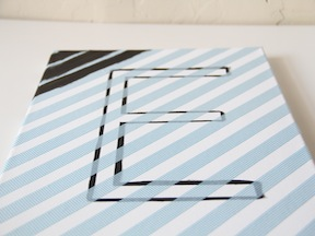 DIY Monogram Art - Step 3